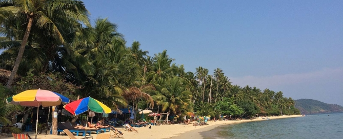 Koh Chang Paradise Beach, Tayland Körfezi Live Love Thank
