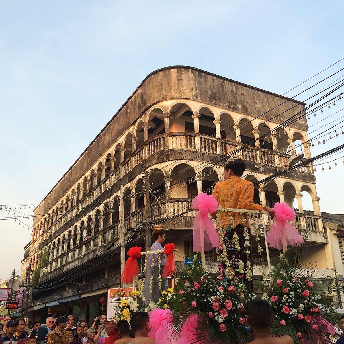 Phuket Old Town, Çin yeni yıl festivali. Live Love Thank