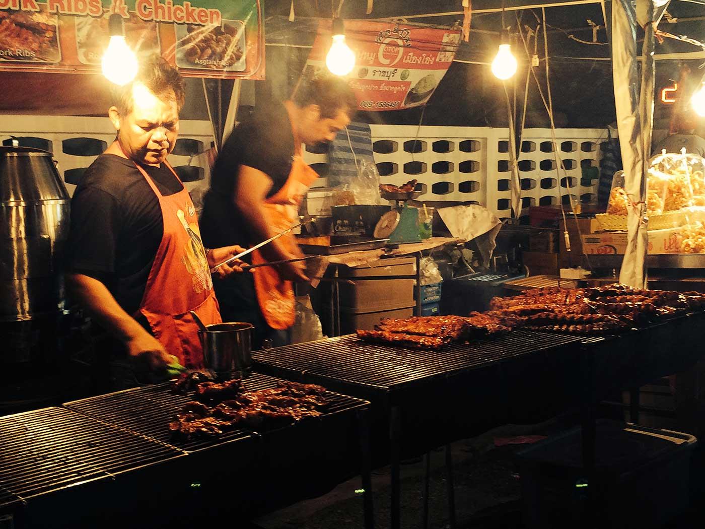 Phuket Old Town domuz kızartma