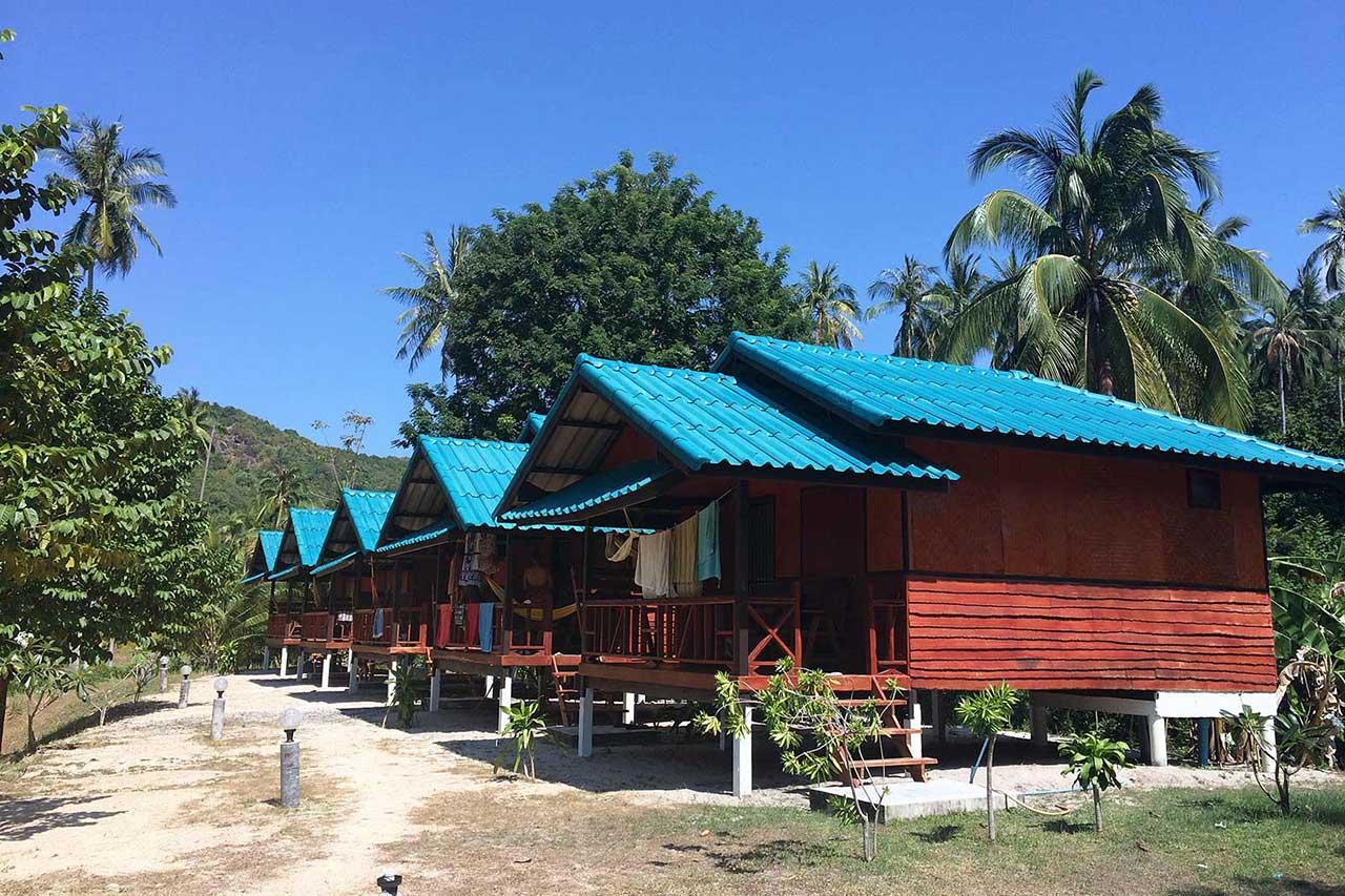 Koh Phangan'daki kaldığımız Double Duke. Tayland Otelleri