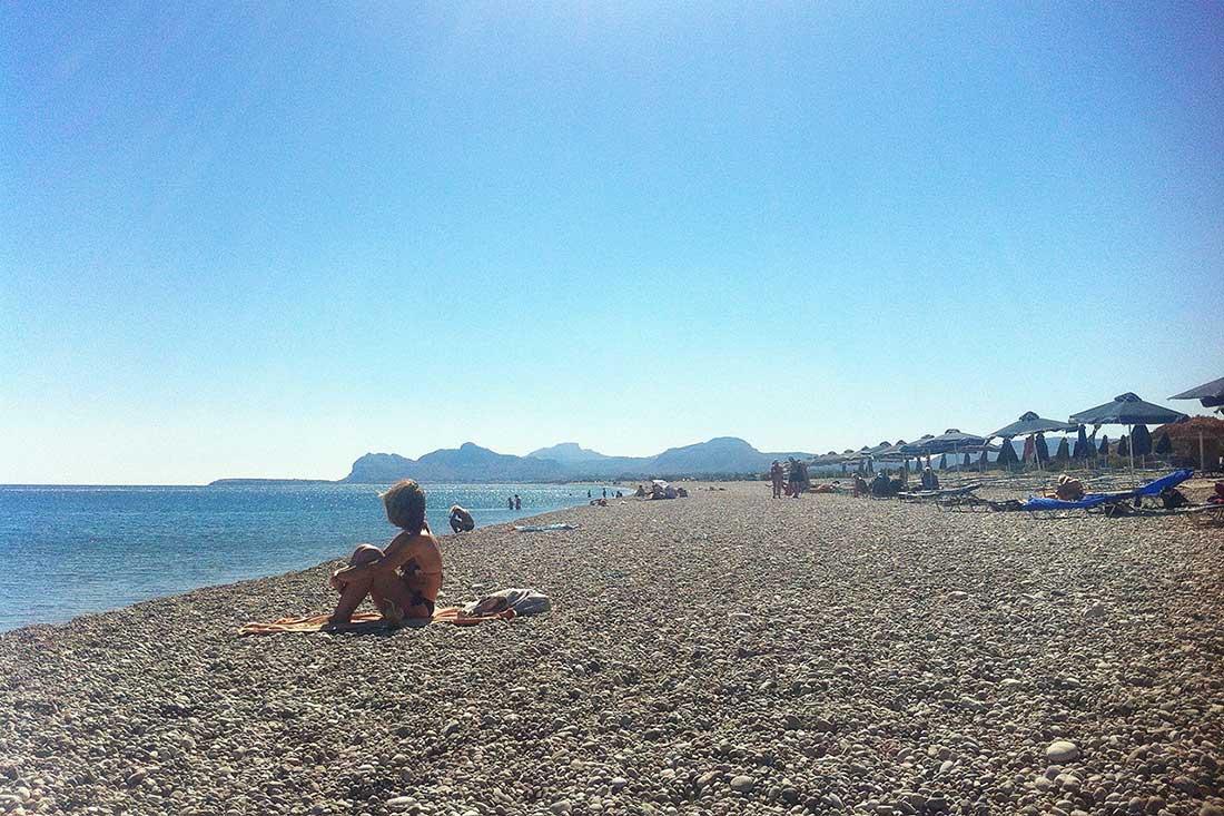 Afantou plajı, Rodos.
