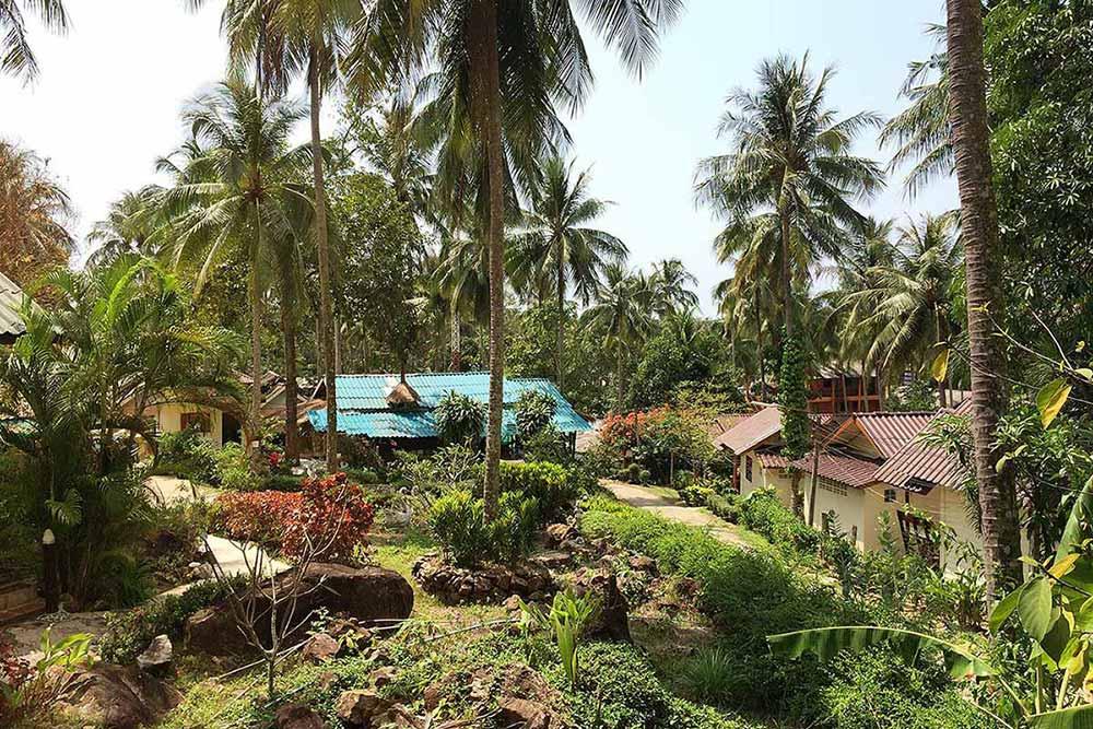 Koh Chang'daki Bungalow manzaramız. Tayland Otelleri