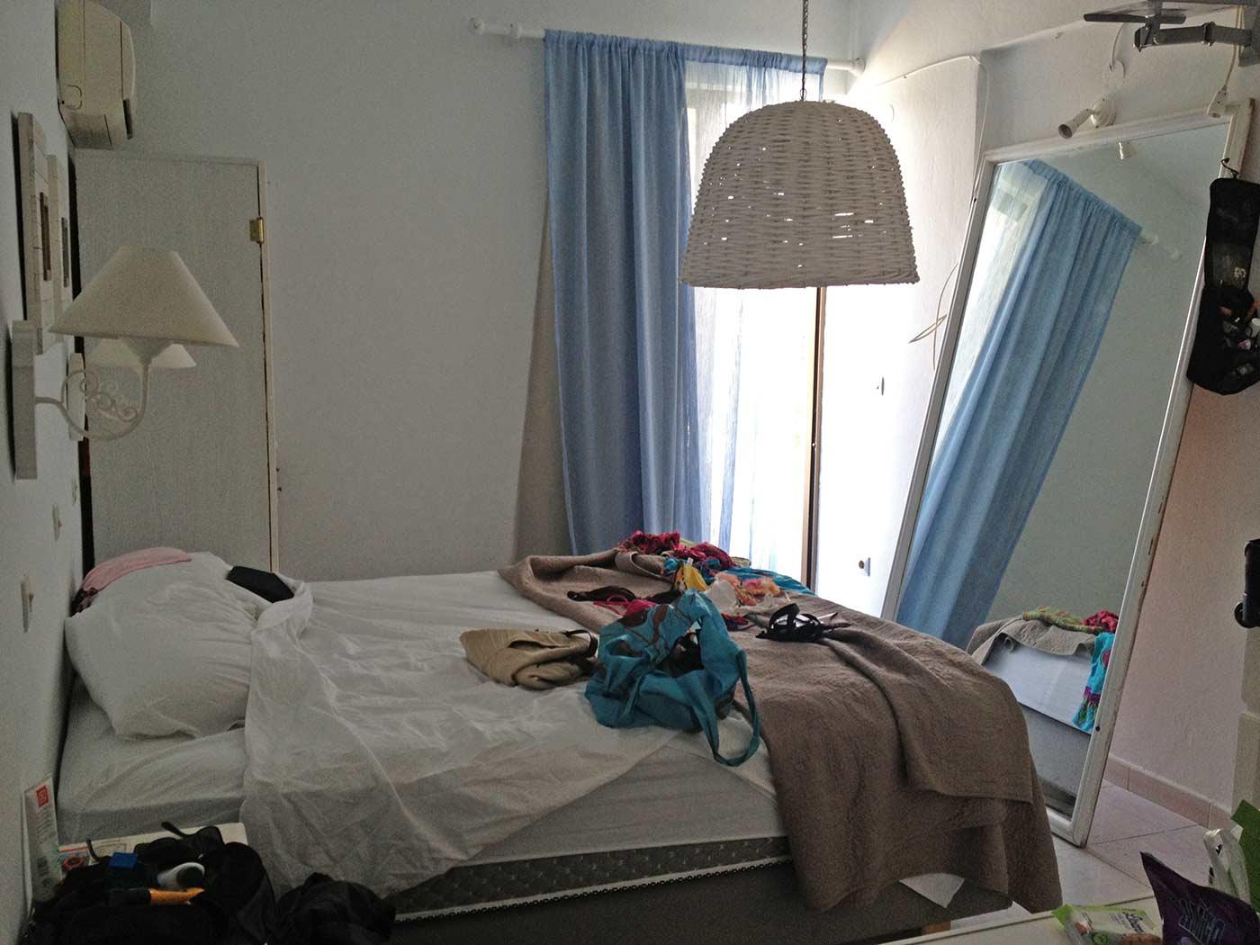 Kouros Exclusive Hotel'deki odamız.