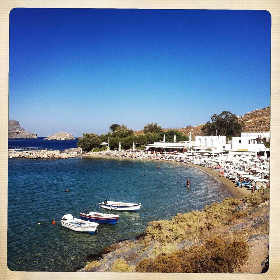 Lindos plajı, Rodos