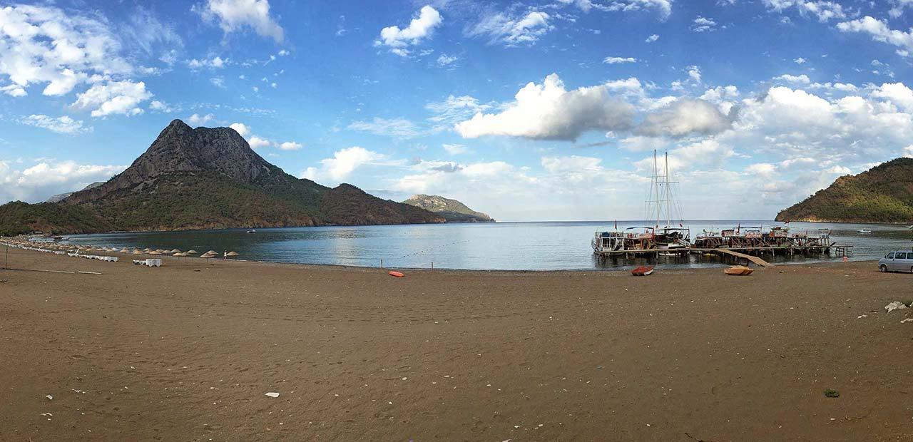 Teknelerin bağlı olduğu güzelim Adrasan, Olimpos