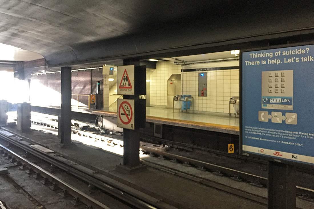 Toronto Metro'sundan; intihar etmeyi düşünenlere yardım hattı!