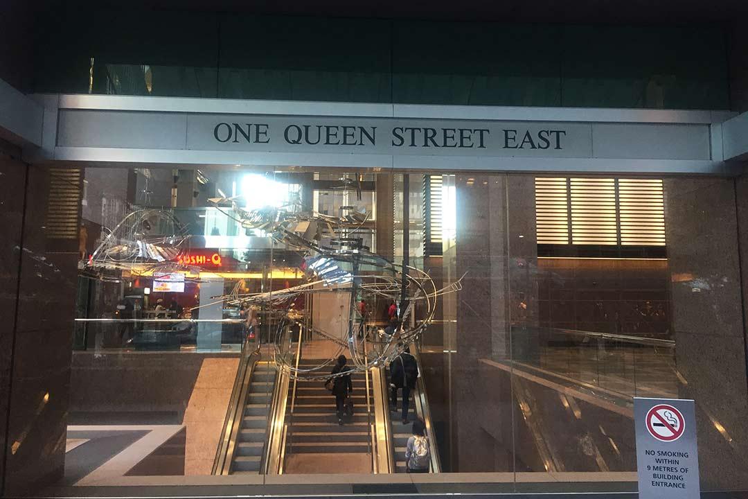 Çalıştığım ofisin girişi, 1 queen st