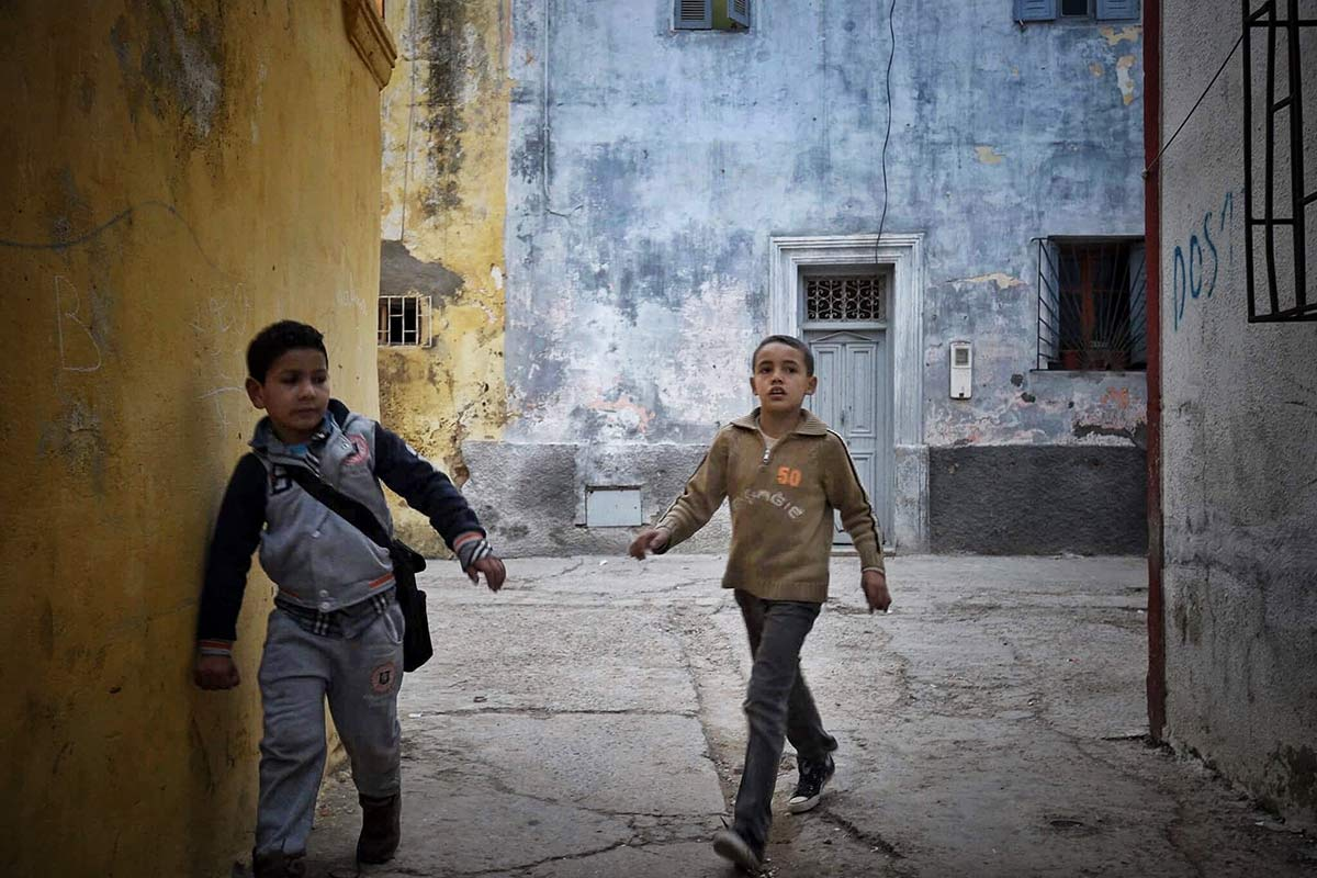 Medina'da çocuklar. El Jadida, Morocco/Fas