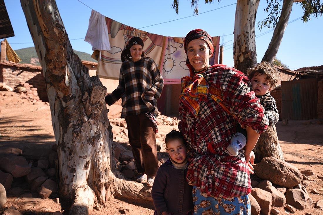 Fas, Atlas dağları, Berberi kadın