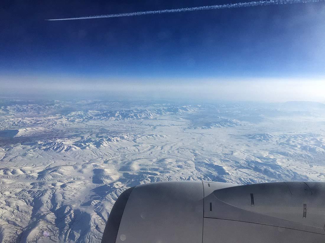 Karlarla kaplı Doğu Anadolu