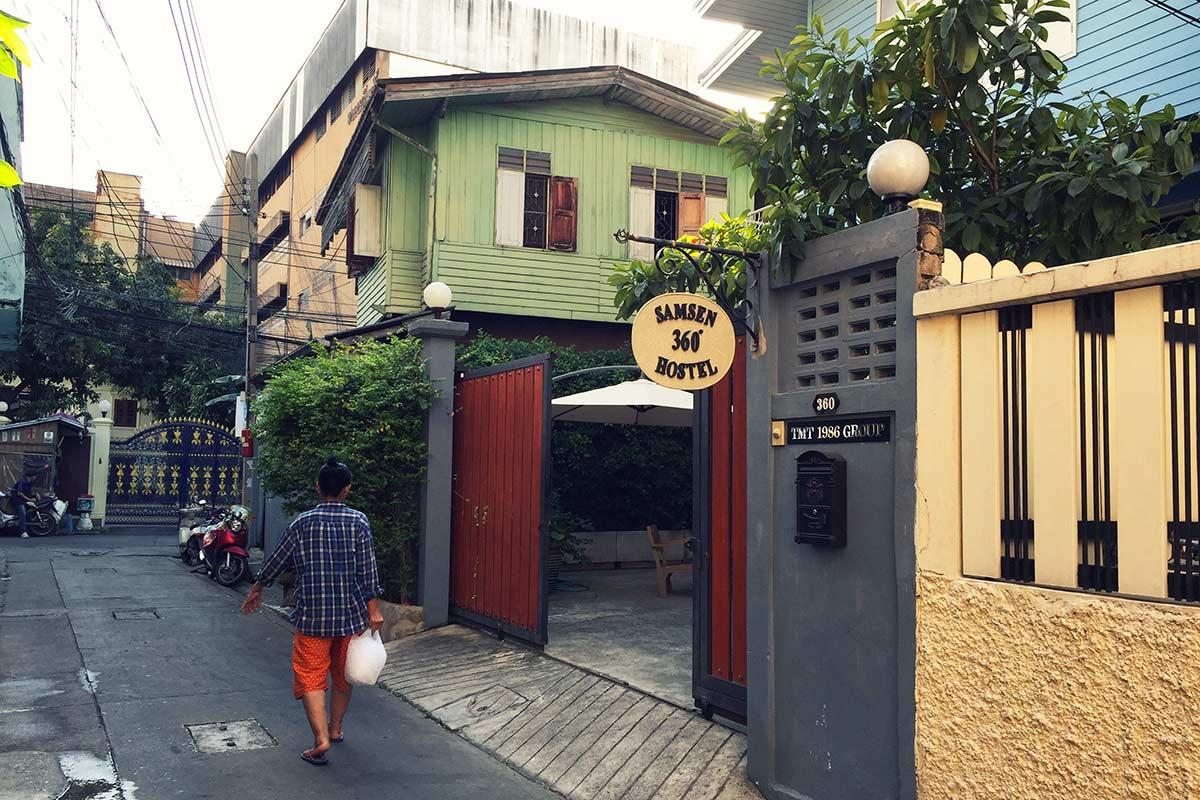Bangkok'taki hostelim.