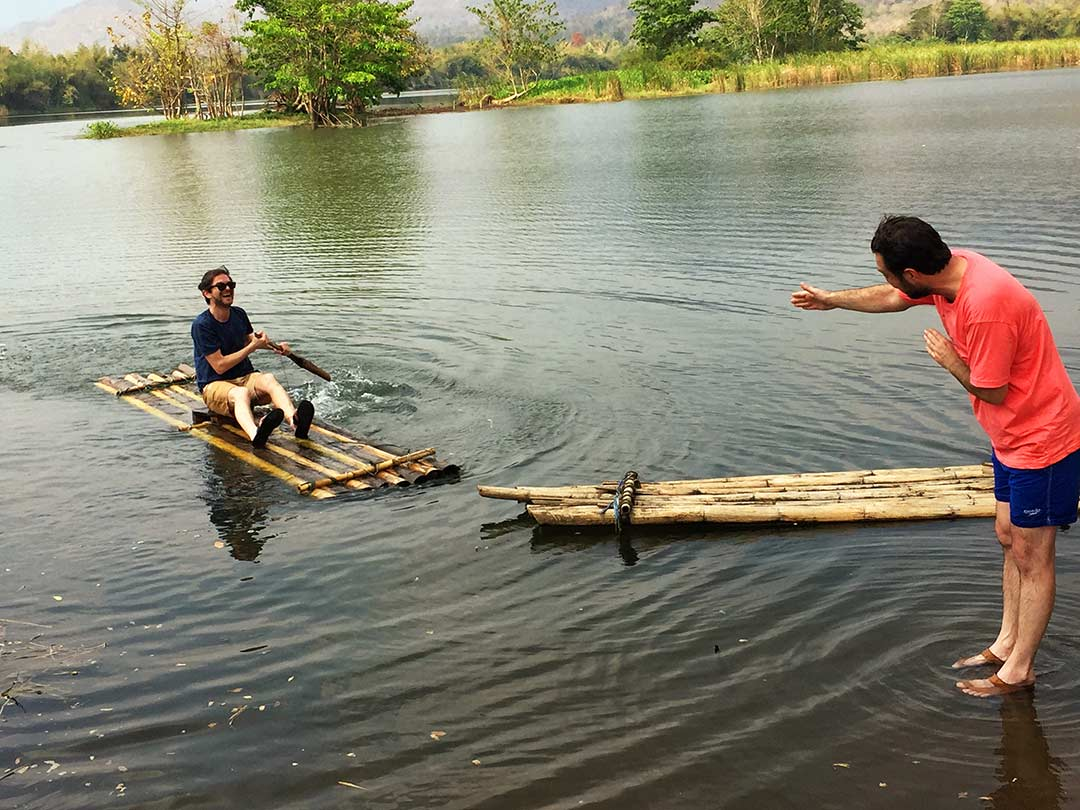 Kwai nehrinde sal, arabayla Tayland