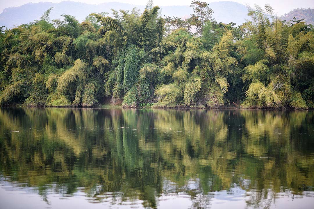 Kuzey Tayland'da Kwai nehri, Kanchanaburi