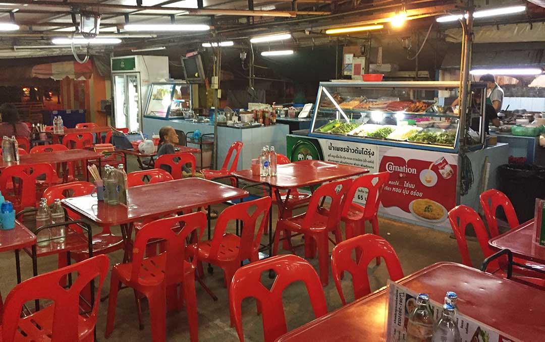 Lokal sokak restoranları, Ayutthaya