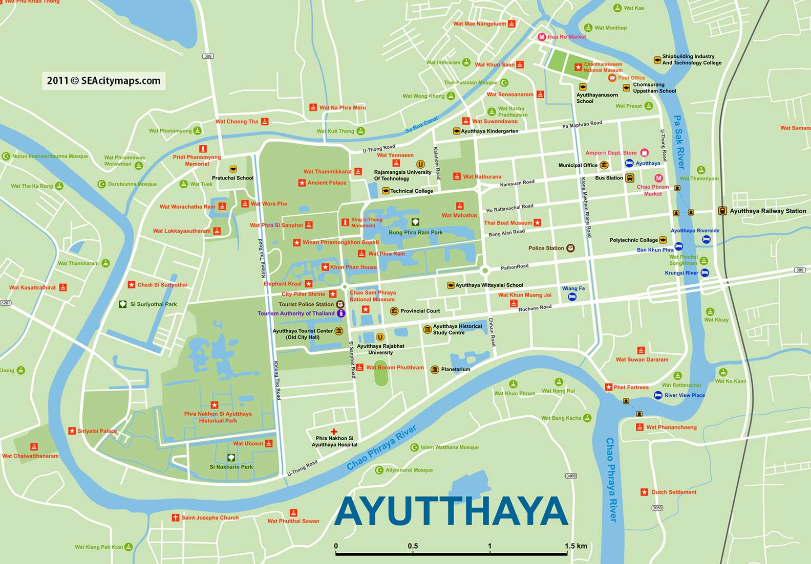 Ayutthaya haritası