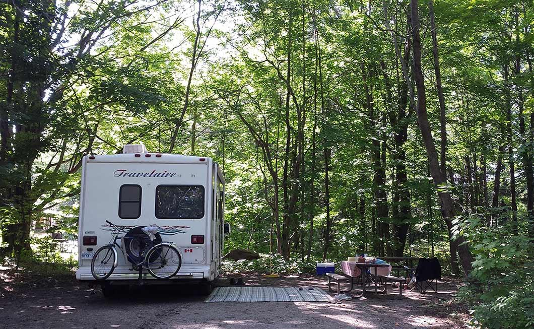 Campsite Ontario kamp, Karavan kampingi Kanada