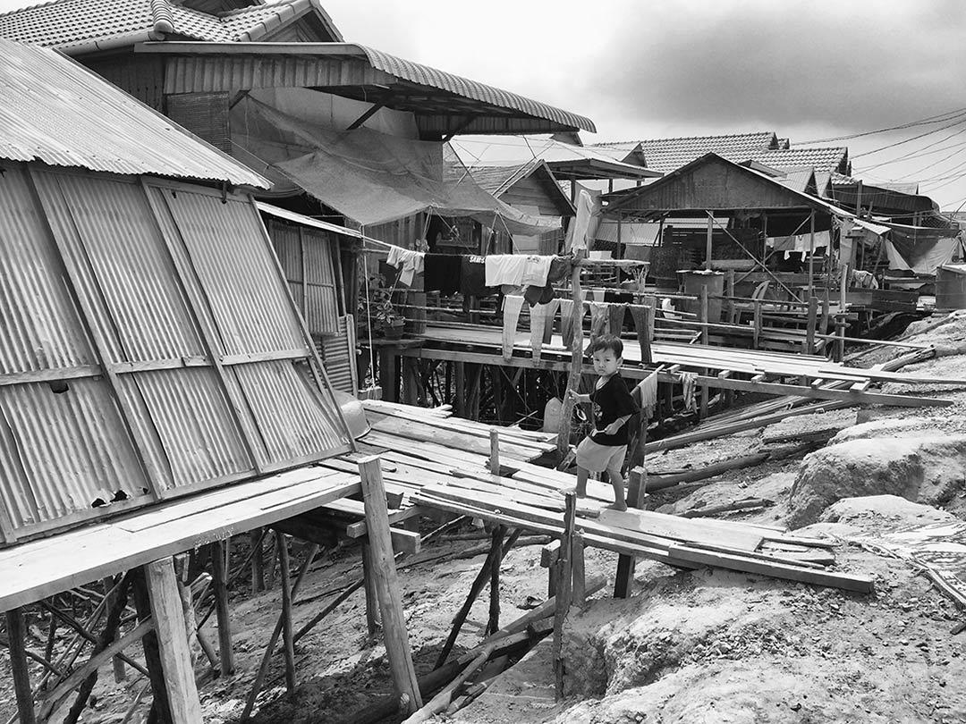 Siem Reap Yüzen köye giderken