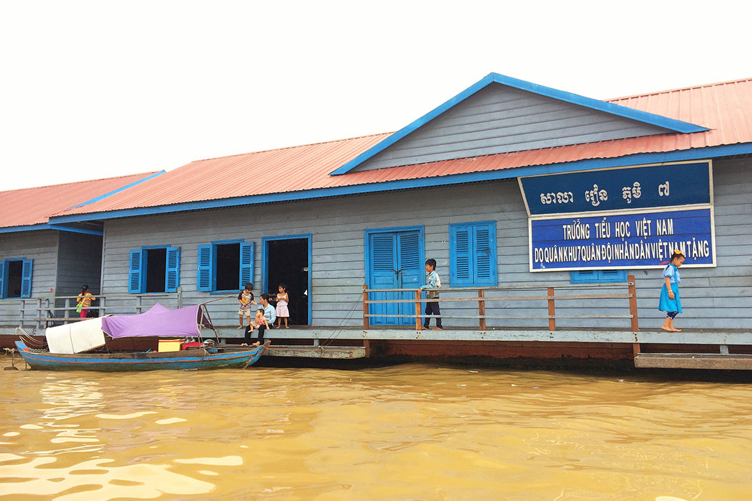 Chong Kneas yüzen köyün okul, Siem Reap