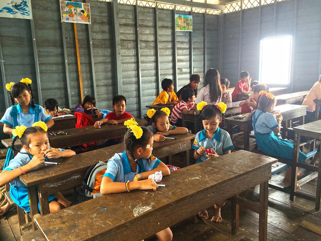 Yüzen köy okul, Chong Kneas Siem Reap