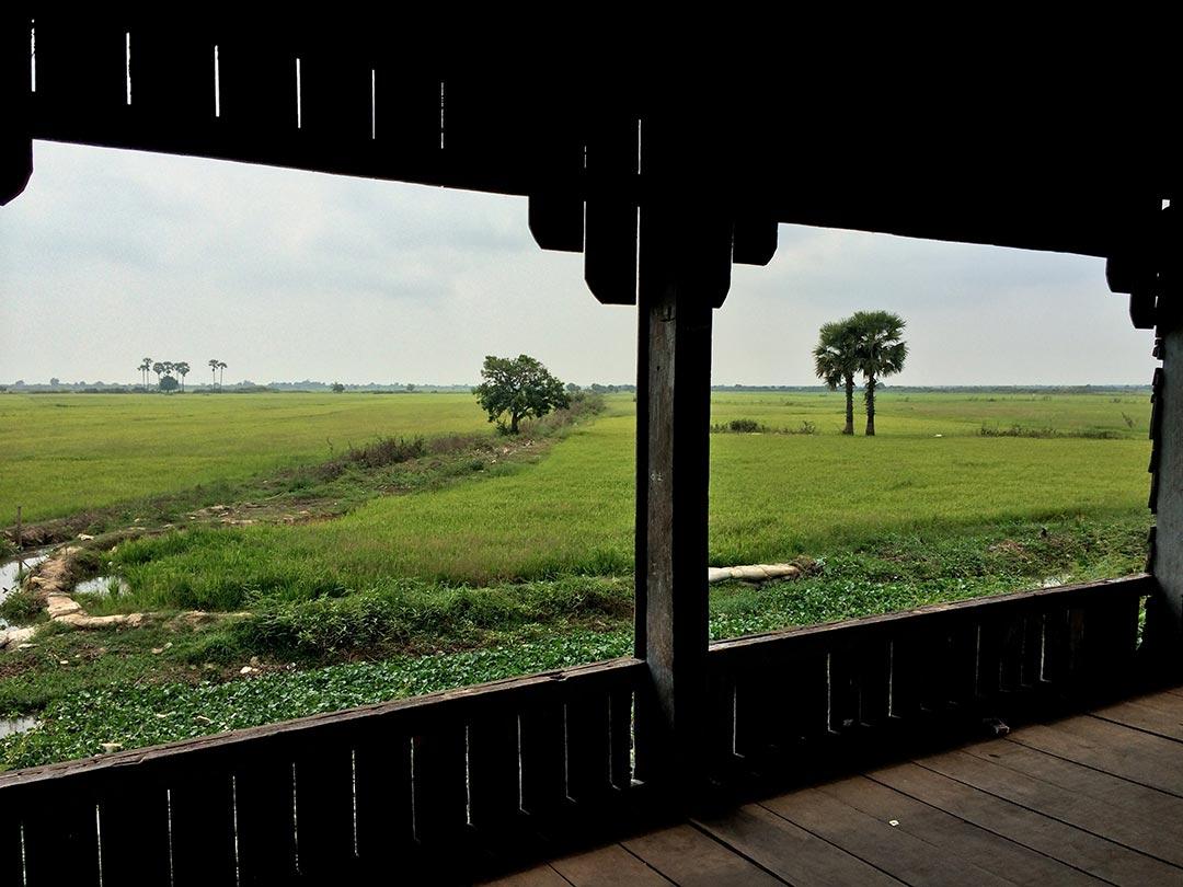 Siem Reap Yüzen köye giderken Kamboçya Live Love Thank