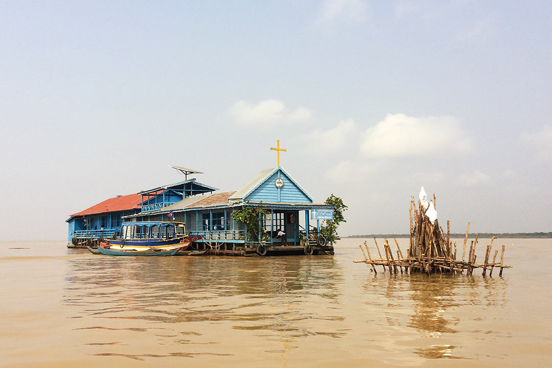 Köyün yüzen kilisesi Siem Reap