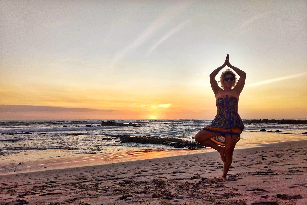 Santa Teresa'da Yogaya hazırlık