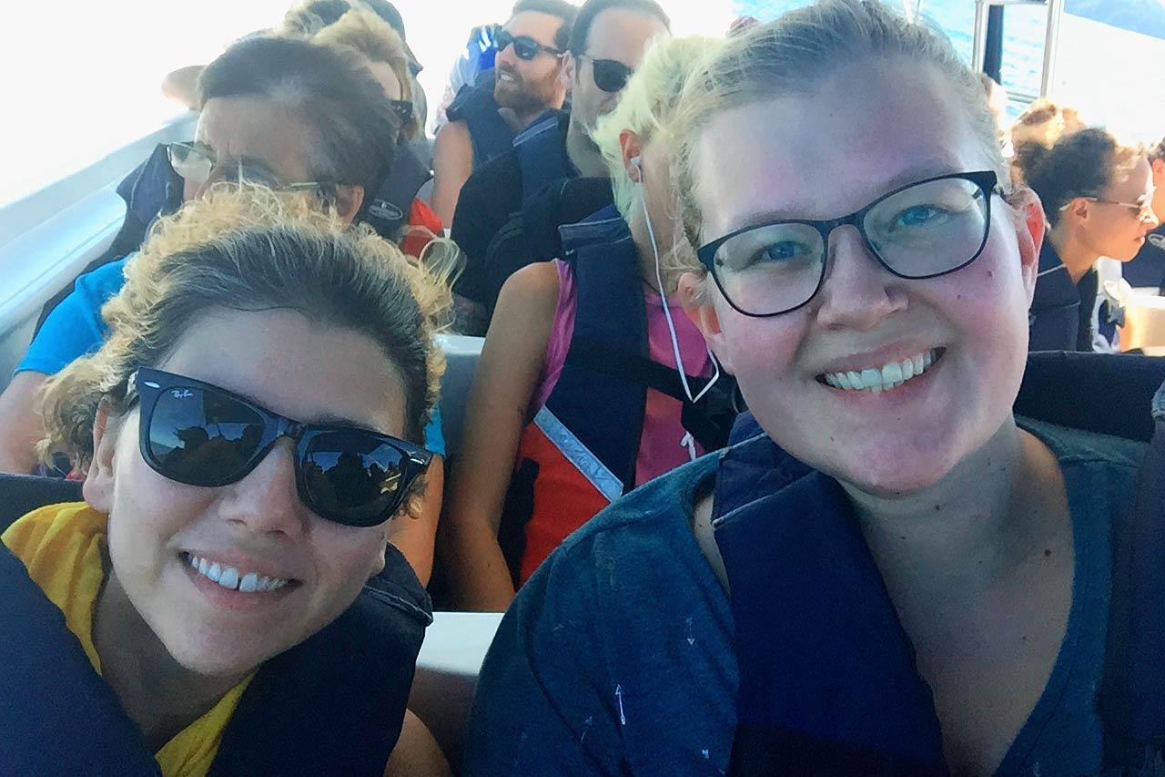 Sürat teknesiyle Nicoya'ya giderken